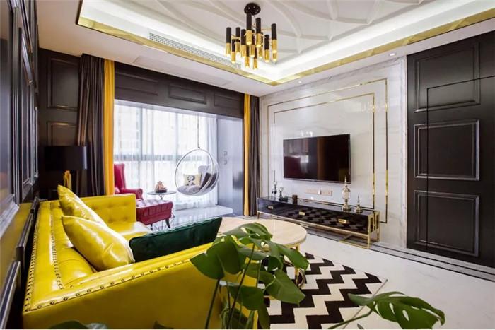106平的轻奢风两房,这种摩登时尚的设计,太美了
