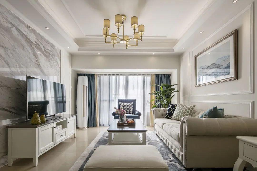 131㎡现代美式风装修,玄关的设计简单又美观,还实用!
